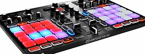 Hercules P32 DJ - Unique dual deck USB controller with integrated audio interface and 32 pads