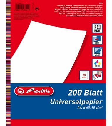 90 GSM A4 Universal Paper - White (200 Sheets)