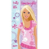 Barbie Birthday Card Granddaughter 125 x 234mm