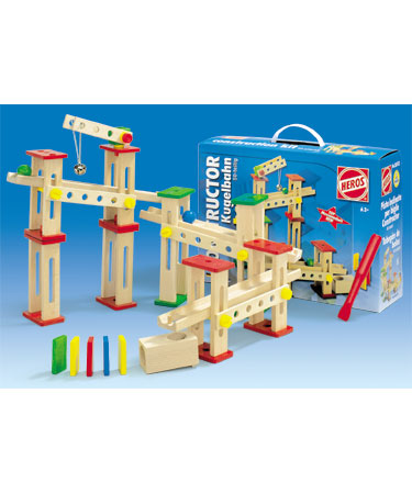 Heros Wooden Toys 50 pc HELTER-SKELTER CONSTRUCTION KIT.