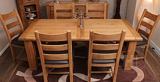 extending dining table and chairs : hfl co uk solid oak extending dining table and 6 padded oak chairs danube dining fu from www.comparestoreprices.co.uk size 550 x 284 jpeg 38kB