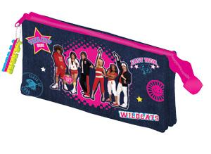 barrel pencil case high school musical 3 pocket pencil case