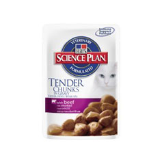 Feline Adult Tender Chunks In Gravy Pouch 100g
