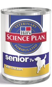 Hills Science Plan Canine Senior Canned Dog Food 370g x 12 Case Age 7