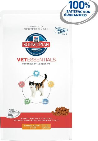 Hills, 2102[^]0105343 Science Plan Vet Essentials Young Adult Cat