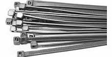 Silver / Grey Wheel Trim Cable Ties 370mm x 4.8mm - 100pc pack