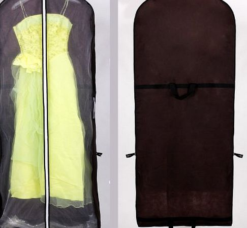 himry breathable wedding gown dress garment clothes cover bag 70 long zip for wedding dresses. Black Bedroom Furniture Sets. Home Design Ideas