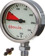 Hollis, 1192[^]156354 Chrome Plated Brass Pressure Gauge