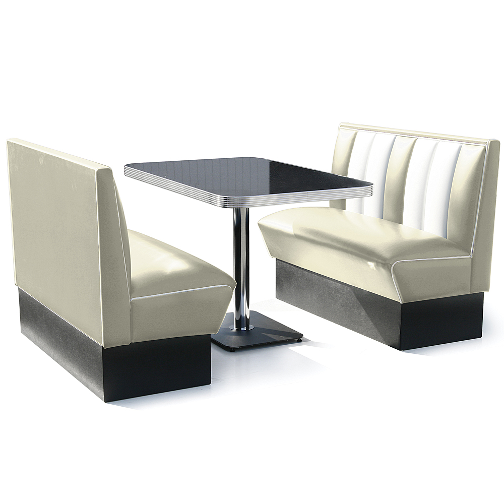 Hollywood booth dining set off white review compare prices buy online - Kitchen booth sets ...