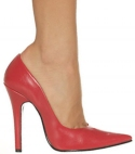 5 Inches / 12.5cm heel. From: 3UK 5US 36EU To: 11UK 13US 44EU - CLICK FOR MORE INFORMATION