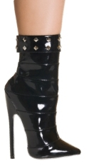 7 Inches / 18cm Heel. Lower calf-high fetish boot with a full reverse side zipper. This super-sexy b - CLICK FOR MORE INFORMATION