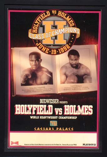 v HOLYFIELD and#8211; Class of Champions - framed fight poster and8211; 19 June 92 - CLICK FOR MORE INFORMATION