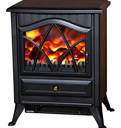1850W LOG BURNING FLAME EFFECT STOVE HEATER ELECTRIC FIRE PLACE FIREPLACE FAN