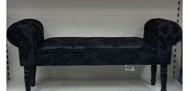 Chaise longue for Black damask chaise longue