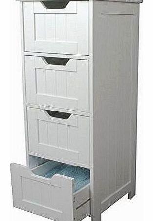white storage cabinet 4 large drawers bathroom or bedroom storage