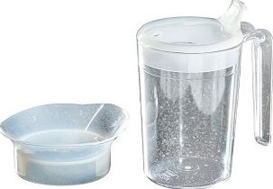 Homecraft, 2041[^]10043755 Polycarbonate Clear Mug with 2 Lids -