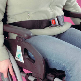 Similar to car seat belts these wheelchair belts are fitted with an automatic press-to-release buckl - CLICK FOR MORE INFORMATION