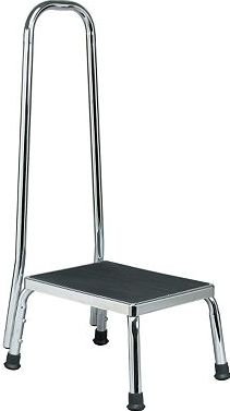 Homecraft, 2041[^]10043741 Step Stool Chrome with Handle 10043741