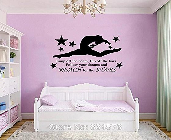 HomeDecor69 GYMNAST GYMNASTIC GIRLS Wall Art Sticker Decal Home DIY Decoration Decor Wall Mural Removable Bedroom Decal Stickers 57x97cm by HomeDecor69