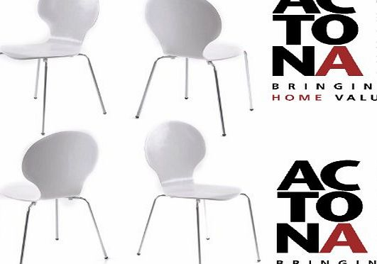 Homestreet Furniture Chaise Marcus Designer Moulded Dining Chairs White x 4 product image