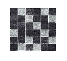 Silver Mix Square Mosaic