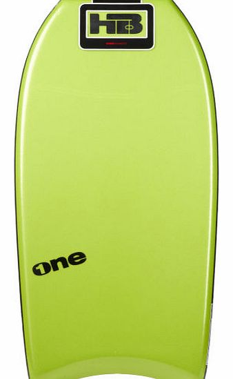 Mens Hot Buttered One PE Green Bodyboard - 41.5