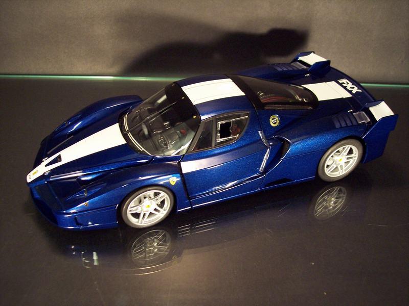 Hot Wheels Elite Ferrari Fxx 2006 In Blue Diecast Model