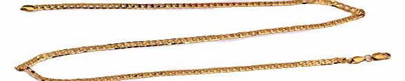New REAL 18K GOLD GP HOLLOW WOMENS/MENS CHAIN NECKLACE GIFT 23.6 INCH,FREE SHIP FF