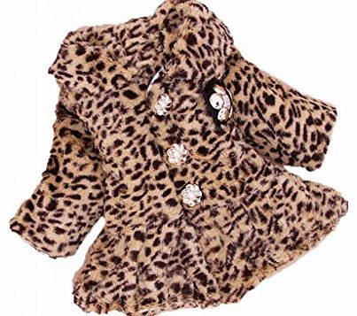 Hotportgift Unisex Baby Boys Girls Leopard Soft Fleece Winter Wear Clothes Jacket Snowsuits