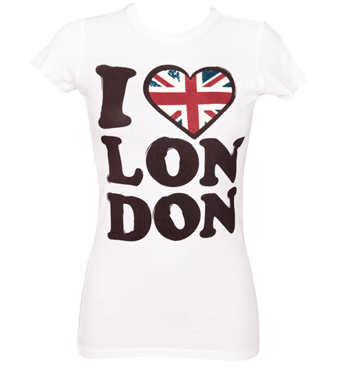 House of Mental Ladies White I Love London T-Shirt from House of product image