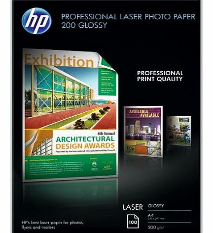 CG966A Professional Glossy Laser Photo Paper A4 210x297mm 200 g/m2 (100 Sheets)
