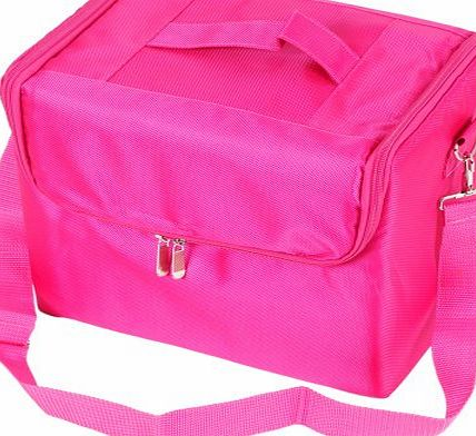 Portable Fabric Beauty Cosmetics Tool Bags/boxes Pink