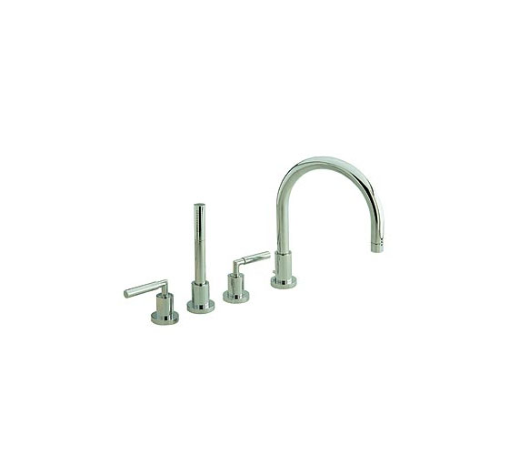 Hudson Reed Helix Lever 4 tap hole deck mounted product image