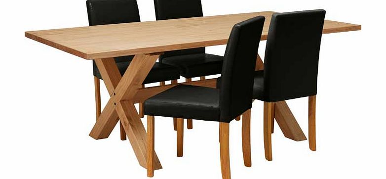 h76 l183 w92cm pine table pine legs chairs 4 chairs