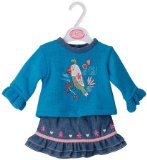 Blue Knitted Parrot Top and Denim Skirt - Petite Dolls 16/18