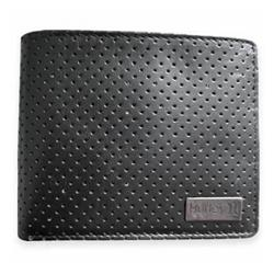 hurley Brinx Bifold Leather Wallet - Black product image