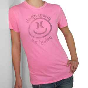 Hurley Ladies Smiley Tee shirt