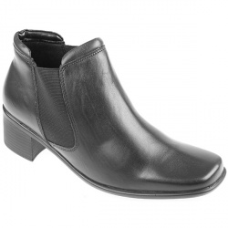 Female Pklsp620 Textile Upper Leather Lining Comfort Ankle Boots in Black