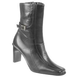 Female Pklsp800 Leather Upper Textile Lining Comfort Ankle Boots in Black, Brown