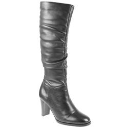 Female Pklsp808 Leather Upper Textile Lining Calf/Knee in Black