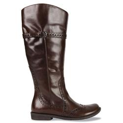 Female PONY LEATHER Upper TEXTILE Lining TEXTILE Lining Casual Boots in Brown Leather