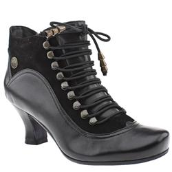 Female Vivianna Leather Upper in Black