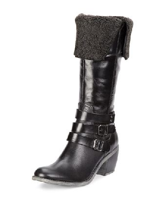 Hush Puppies Rustique Fur Trim Knee Boots