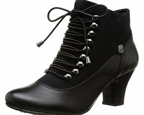 Womens Erika Lonna Boots HW05148 Black Leather/Suede 4 UK, 36.5 EU, 6 US