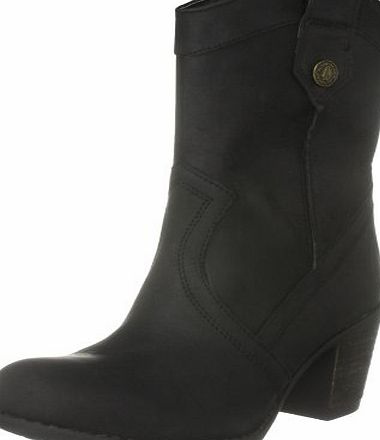 Hush Puppies Womens Fieldfare Cowboy Boots, Black Leather, 4 UK