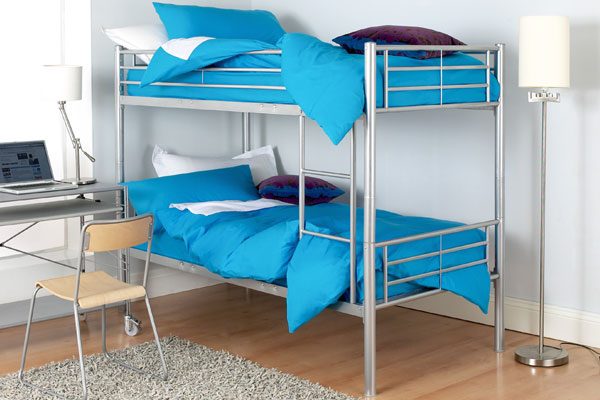 Finished in alloy silver this bunk can easily transform into two single beds or be used as a space - CLICK FOR MORE INFORMATION