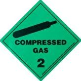 Hydrotech, 1192[^]7852 Compressed Gas Sticker