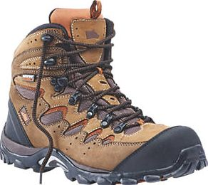 Hyena, 1228[^]2587D Eiger Comfort Safety Boots Brown Size 8