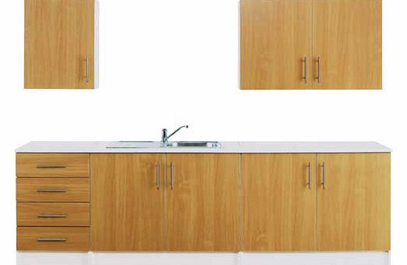 Oak effect tv unit for Beech effect kitchen base units
