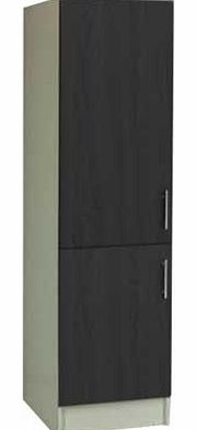 Effect hi fi unit black wood for Tall fitted kitchen unit
